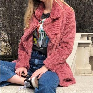 Pink Cotton Candy LA Furry Jacket